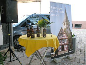 Präsentation des Etterdorfbräu in der Kelter in Lienzingen